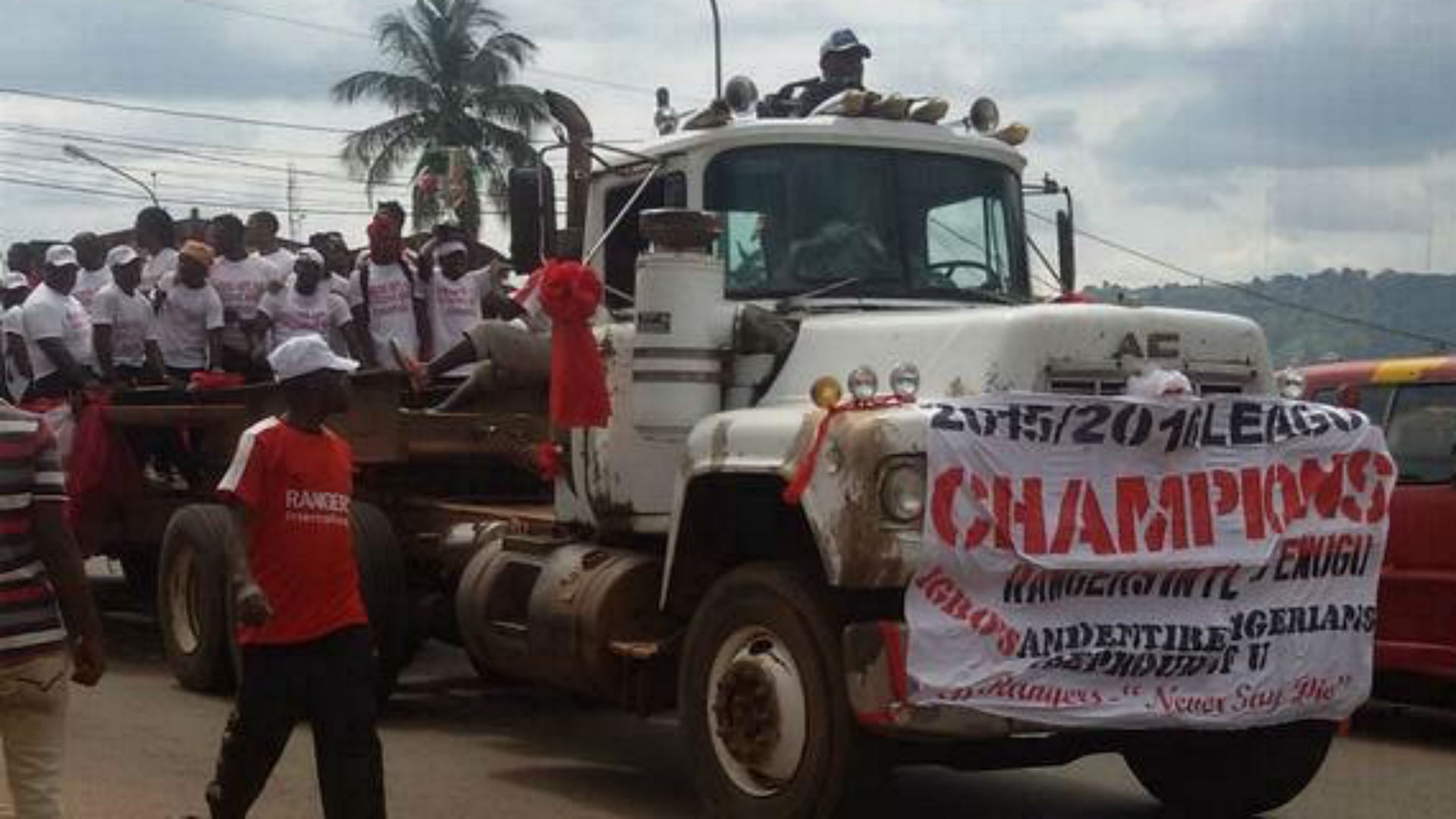 Enugu Rangers victory parade
