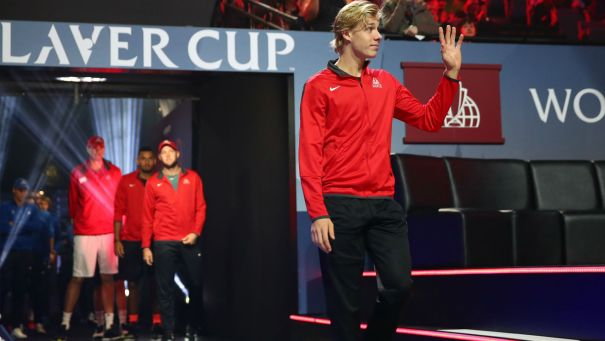 Image result for Denis shapovalov and laver cup