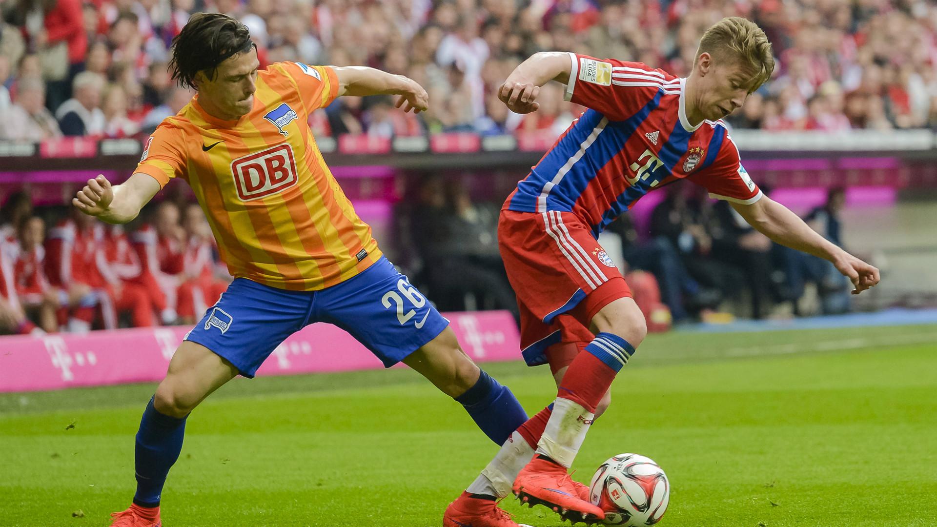 Weiser se destacou na última vitória do Bayern sobre o Hertha por 1 a 0