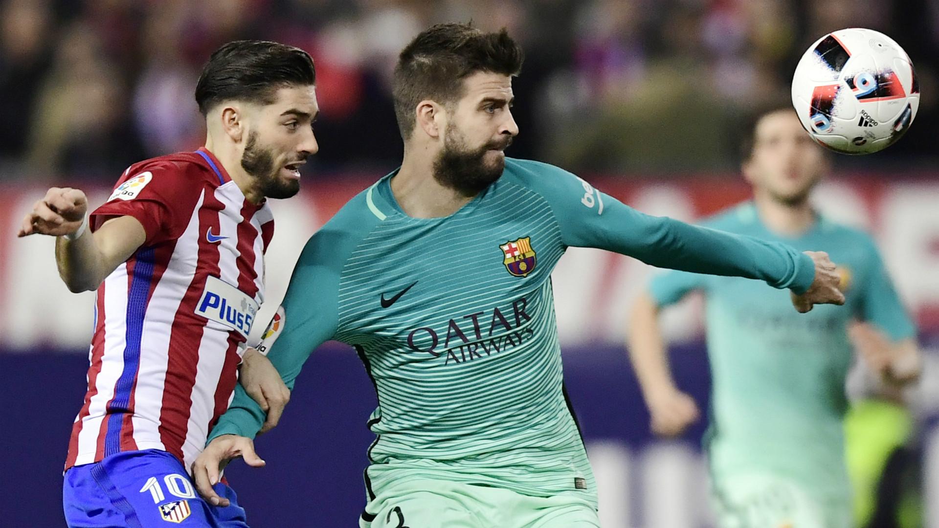 Gerard Pique Ferreira Carrasco Atletico Madrid Barcelona Copa del Rey