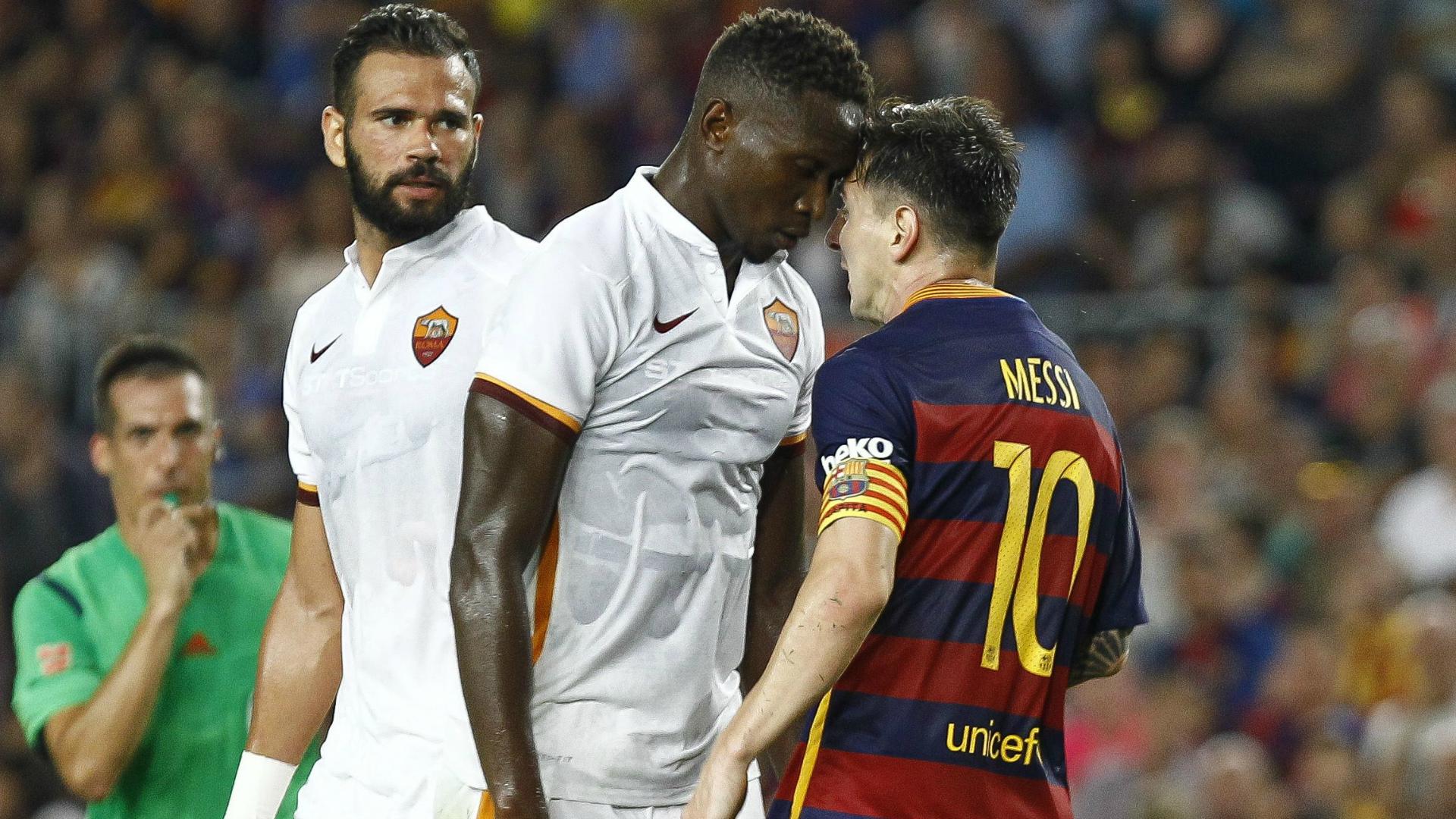 Barcelona: Messi headbutt on Yanga-Mbiwa 'normal'