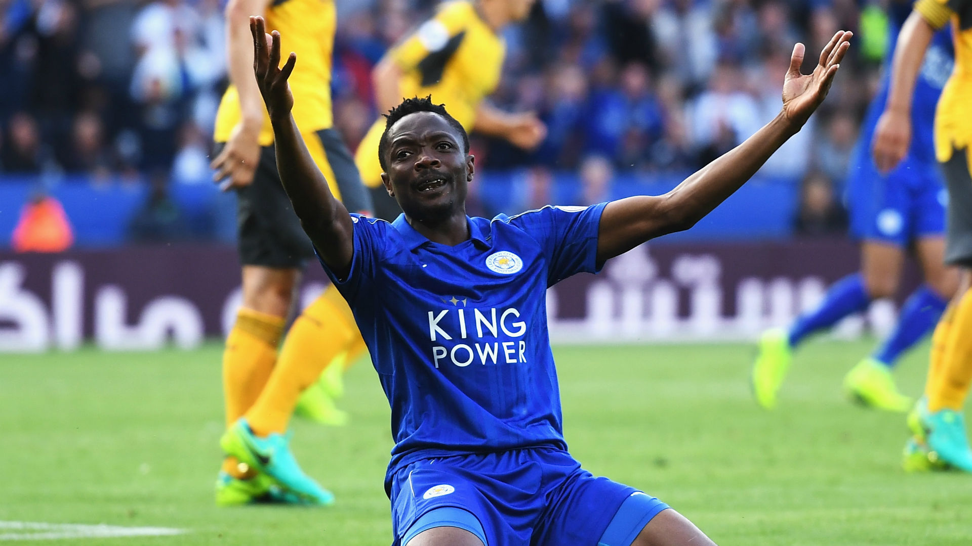 Image result for ahmed musa in leicester city colors