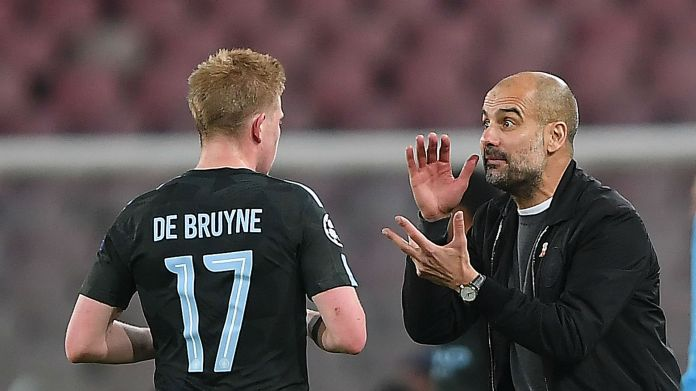 Image result for Kevin De Bruyne and pep guardiola