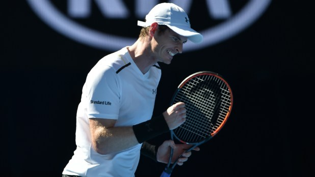 Image result for images of andy murray at the australian open, 2017