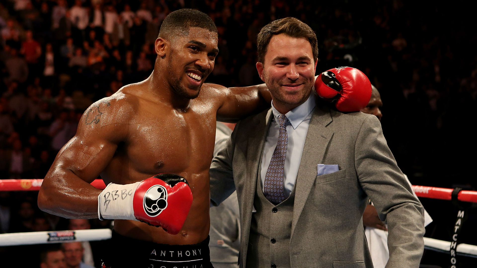 Image result for Eddie Hearn and Anthony Joshua