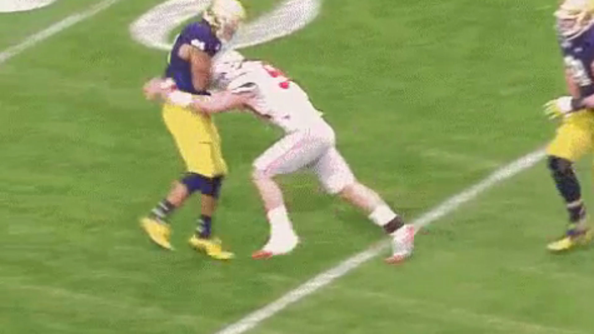 Image result for joey bosa notre dame targeting
