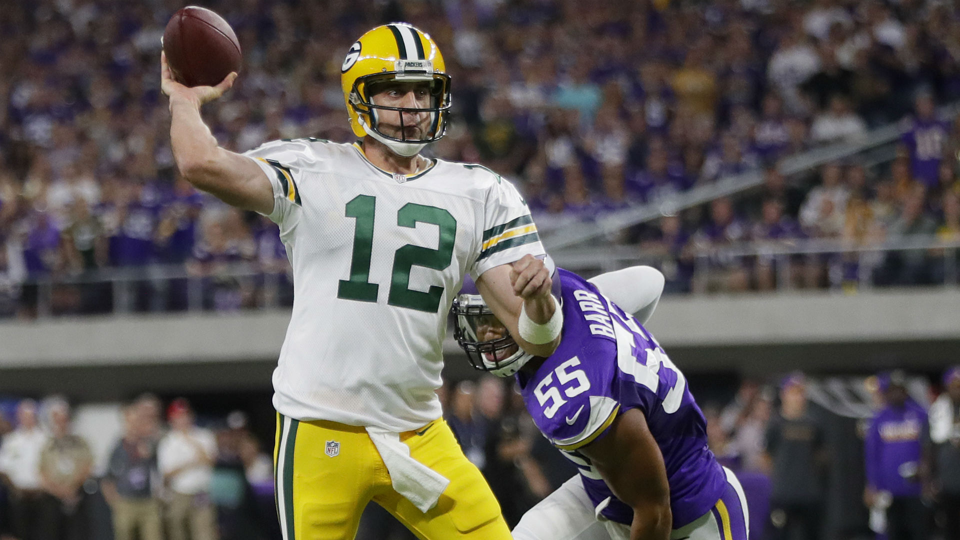Image result for aaron rodgers vikings 2018