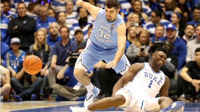 Image result for Duke Blue Devils vs North Carolina Tar Heels basketball live