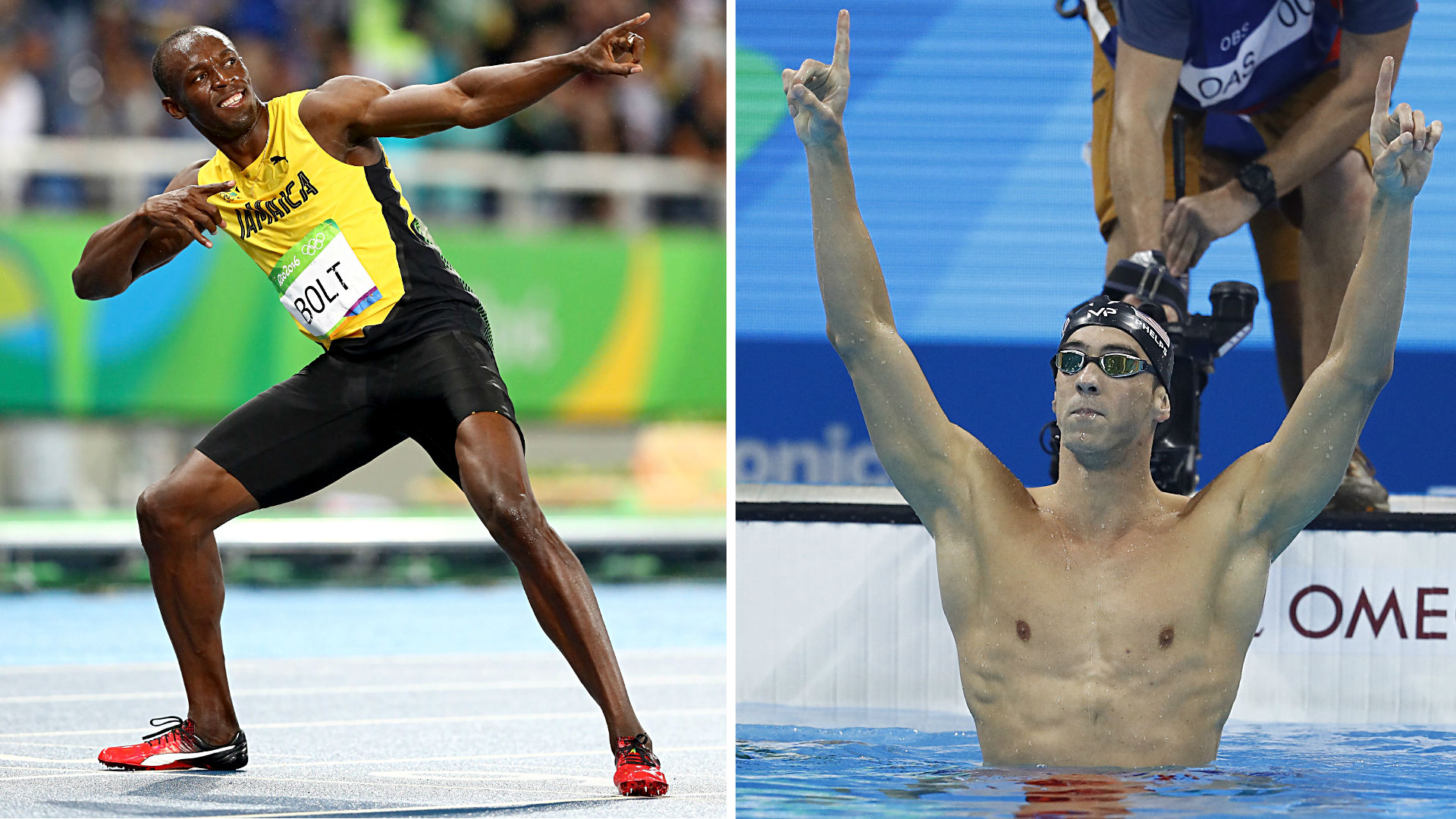 Usain Bolt and Michael Phelps, arguably the two greatest Olympians of all-time