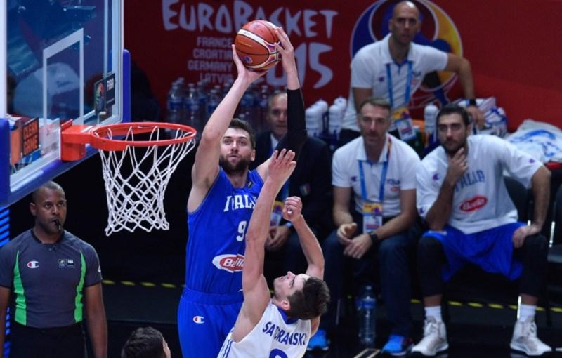 Bargnani jump shot Italy FIBA