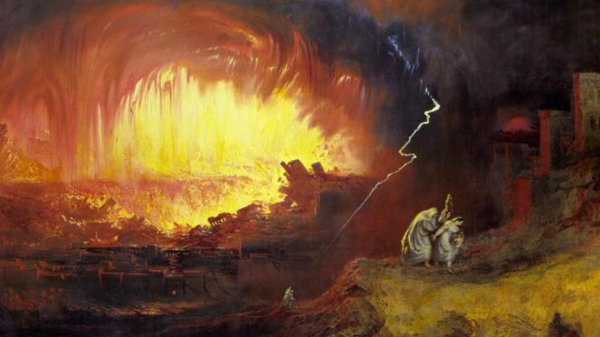 The Destruction of Sodom and Gomorrah, a painting by John Martin, 1852