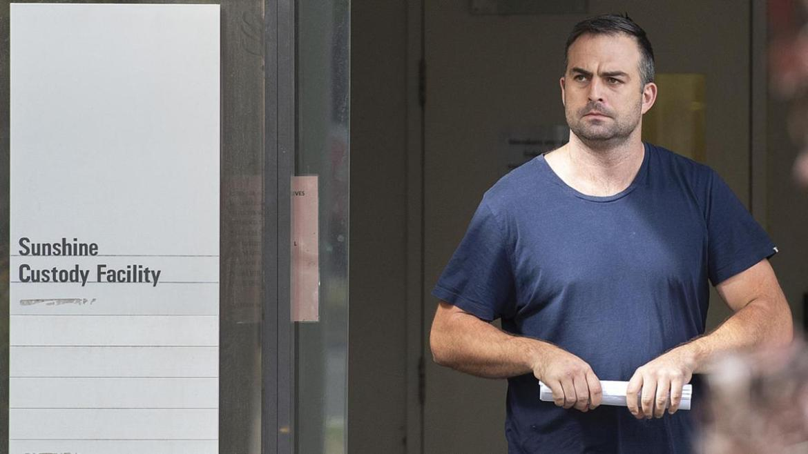Lake leaving the Sunshine Magistrates Court for an unrelated matter in 2019.