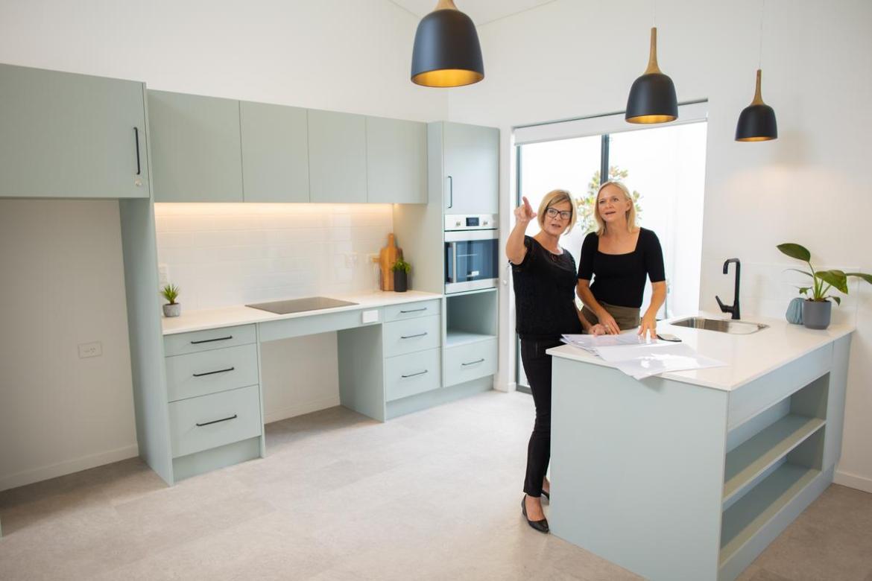 Pulse Property Solutions project coordinator Lesley Palmer and managing director Amanda Gauci.