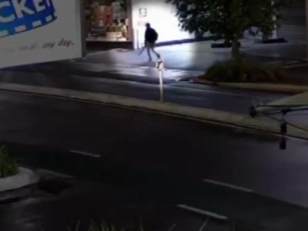 The man was seen in CCTV footage holding the sword.