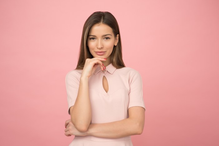 Woman Wearing Pink Collared Half-sleeved Top