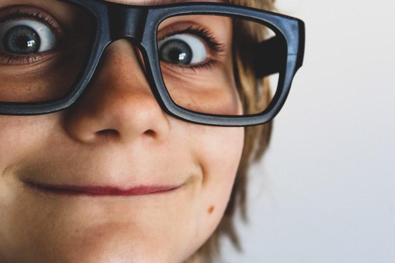 Person Wearing Eyeglasses
