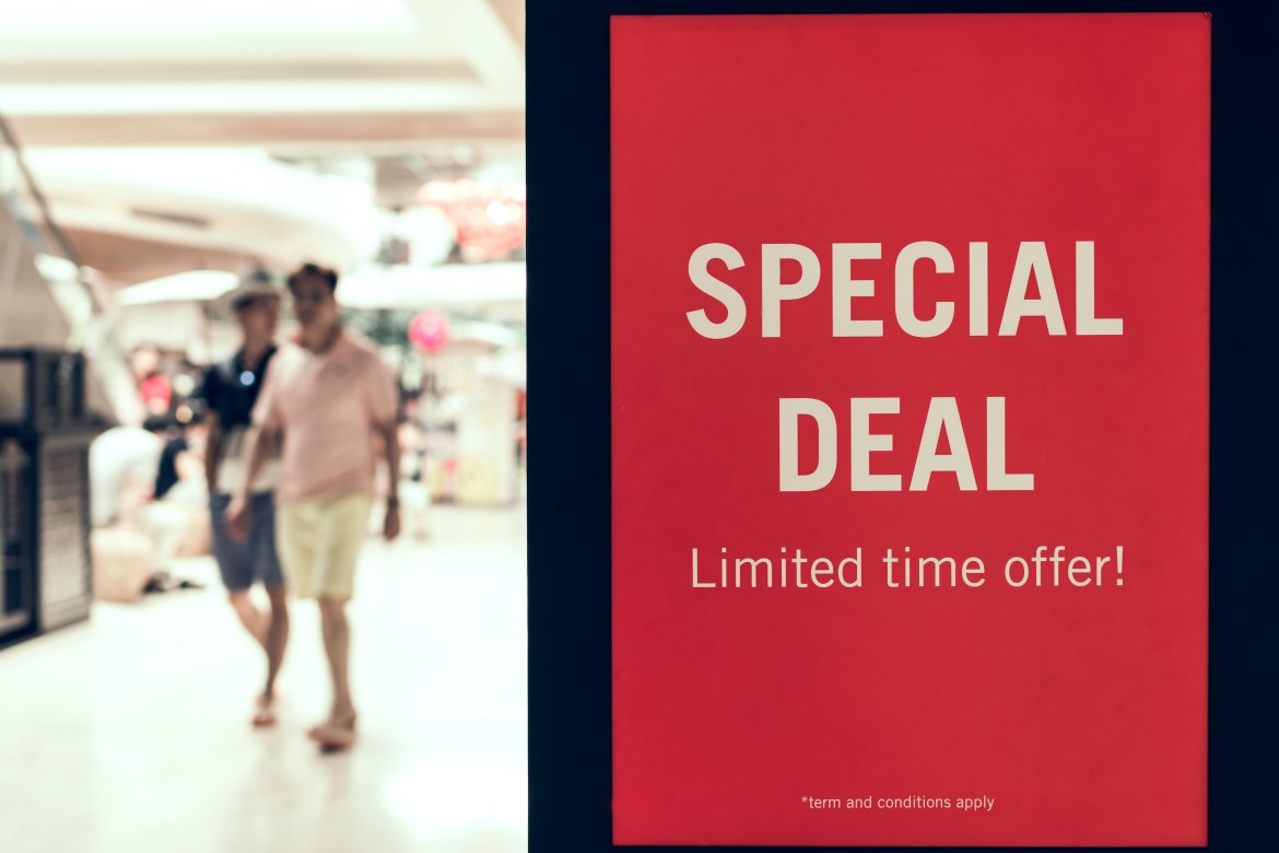 Search for special discounts