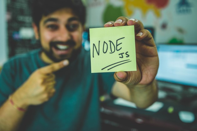 Person Holding Node Text