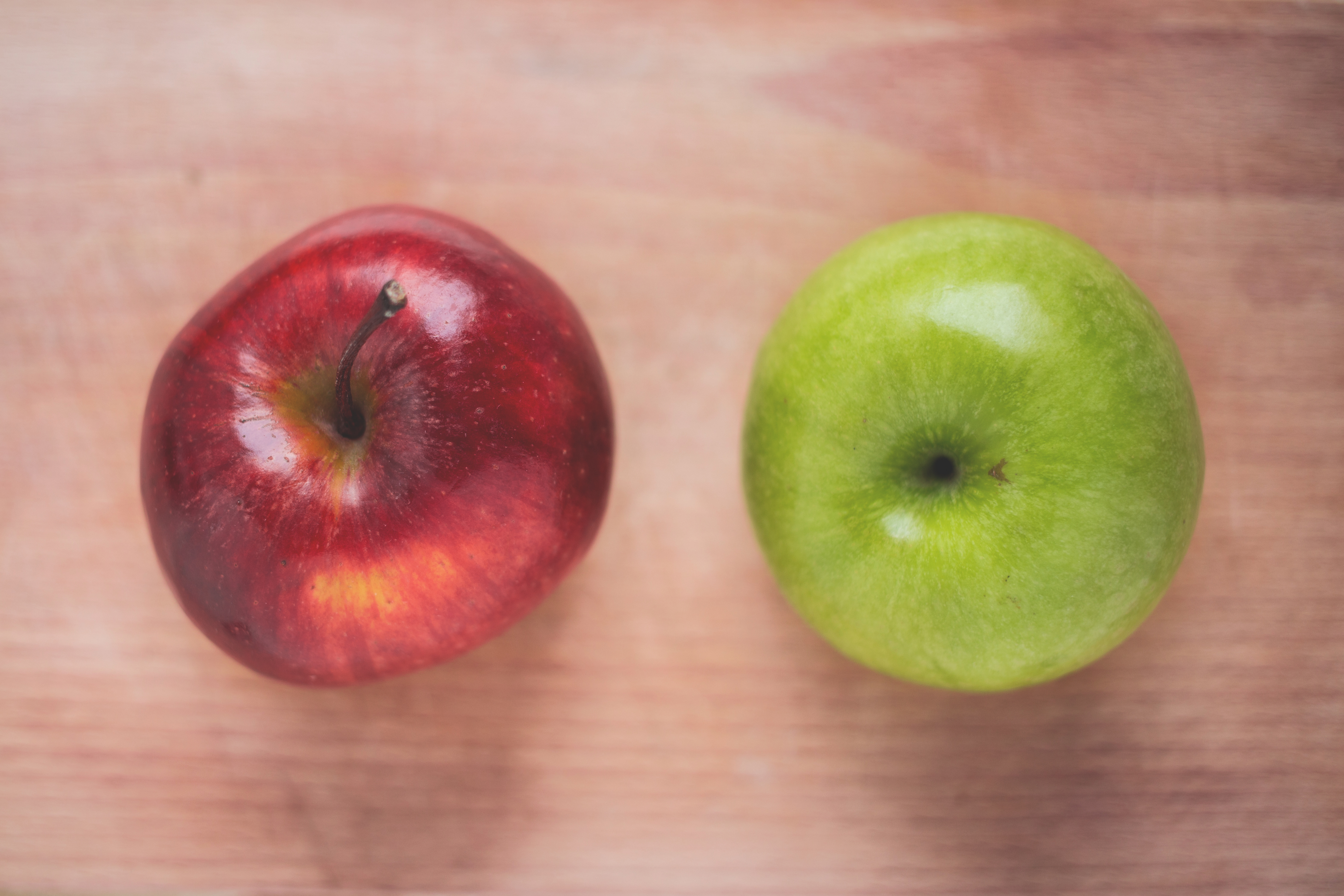Red Apple With Two Green Apples 183 Free Stock Photo