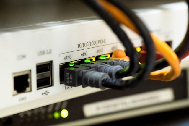 White Switch Hub Turned on