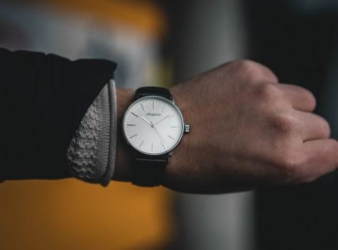 watch on a wrist