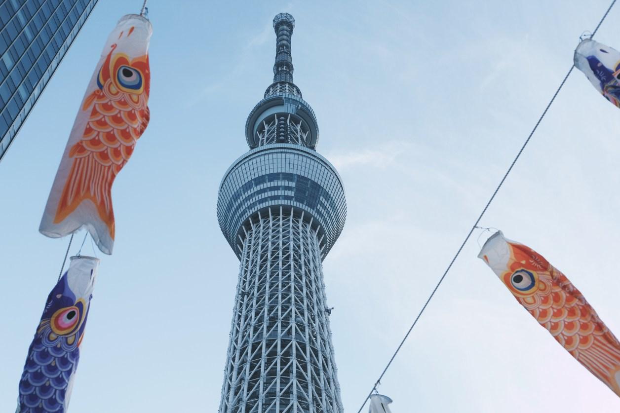 東京スカイツリーのローアングルショット