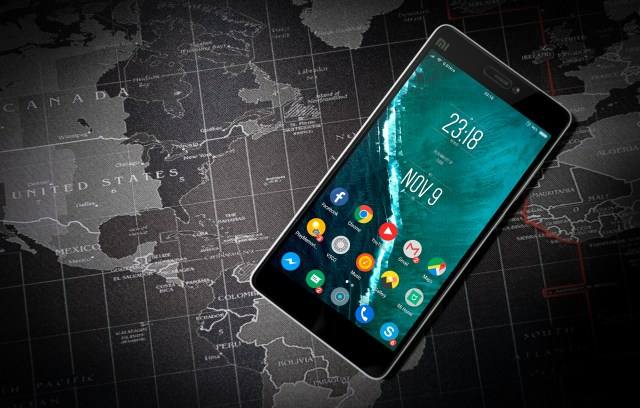 Black Turned on Xiaomi Smartphone