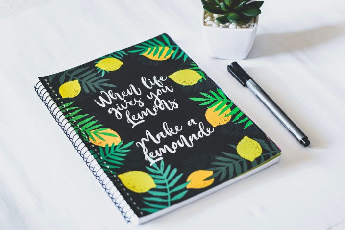 When Life Gives You Lemons Spiral Notebook