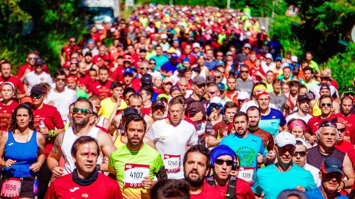 Crowd of Male and Female Runners