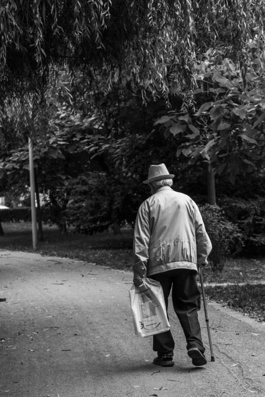 Foto profissional grátis de adulto, andando, antigo