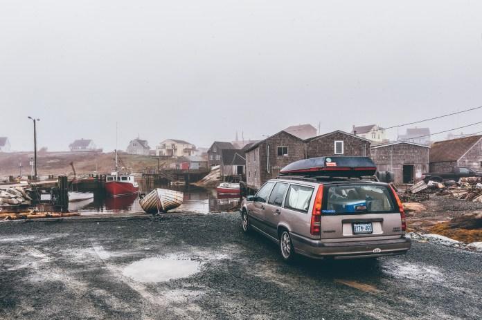 Car Parked Near A River