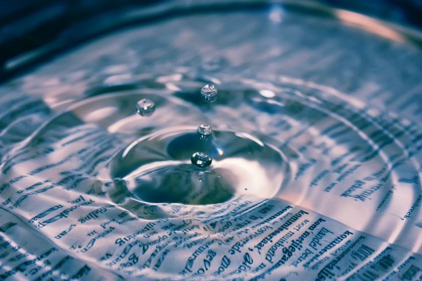 Water Drop Digital Wallpaper