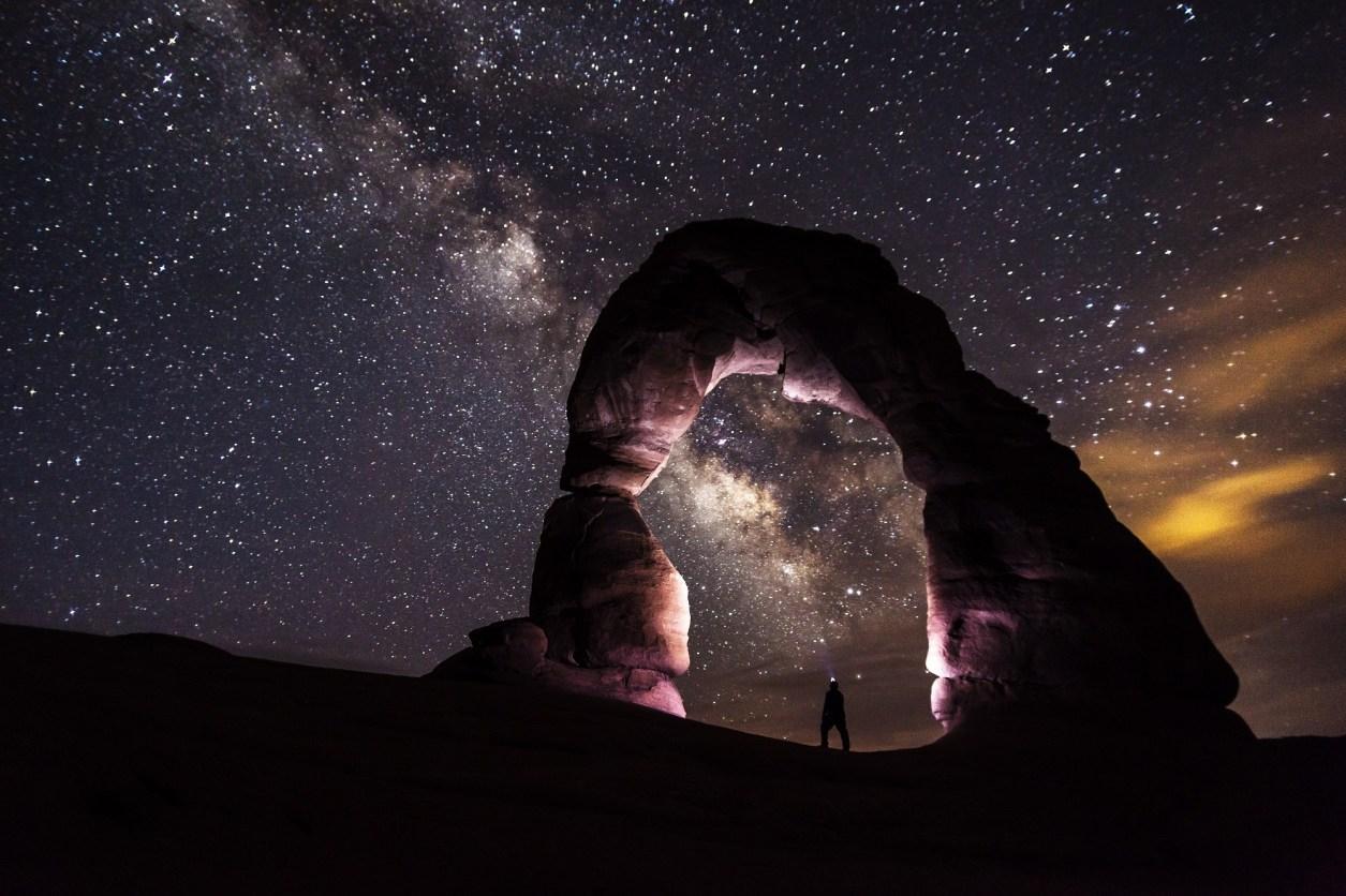 arches national park, dusk, formation