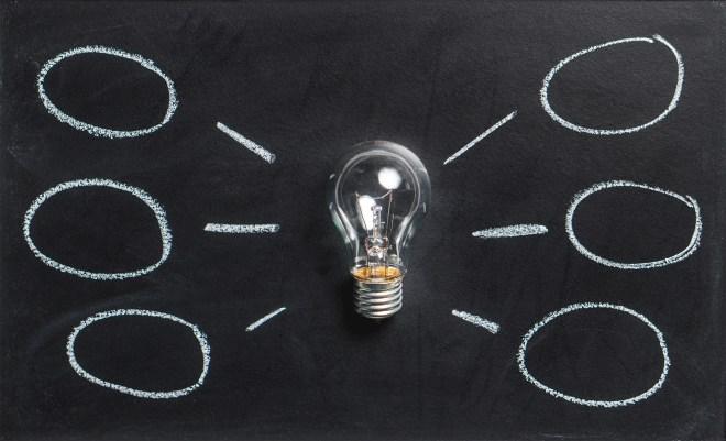 abstract, blackboard, bulb