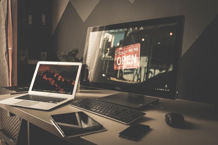 Free stock photo of smartphone, desk, laptop, notebook