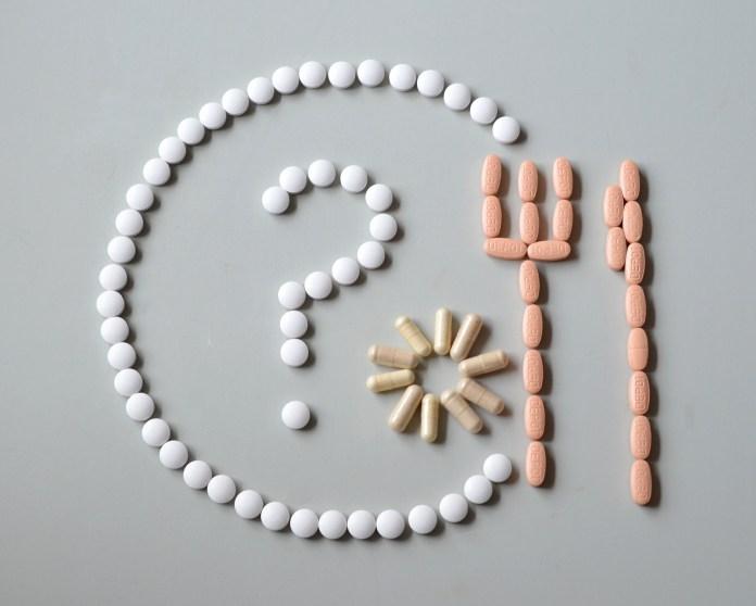 White and Beige Medicine