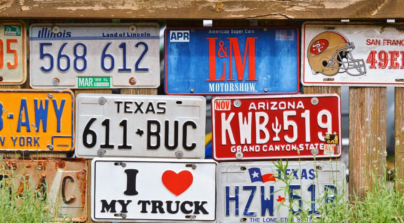 american number plates, art, conceptual