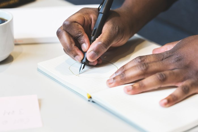 Free stock photo of man, person, hands, desk
