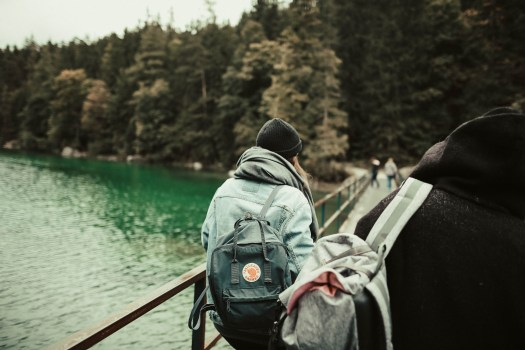 landscape, nature, people, backpacks