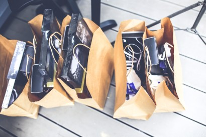 Brown shopping bags