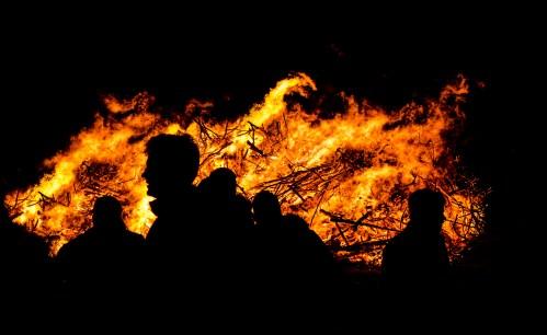 burning, dark, fire