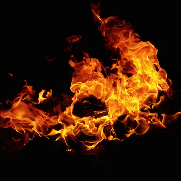 Photograph of a Burning Fire
