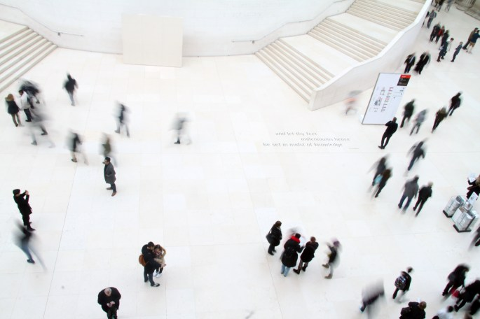 High-angle Photography of People in Ground