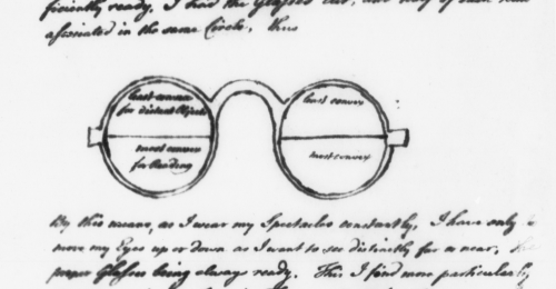 Ben Franklin's bifocals – an invention