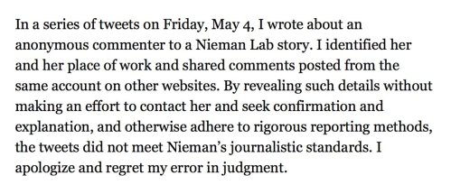 "(Updated) Nieman Lab editor issues statement regarding Temple University professor ""doxxing"""