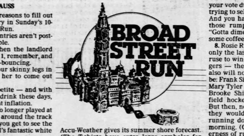The first Broad Street Run