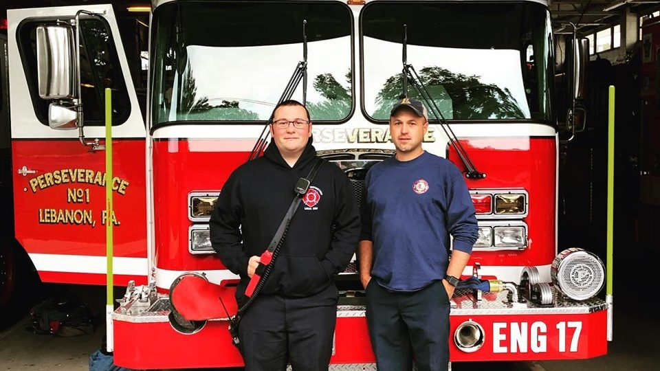 Lebanon firefighter Dave Smiley returns to work seven months after March injury