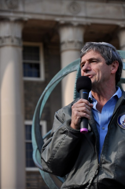 Joe Sestak Rally on Old Main Steps