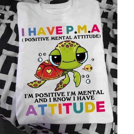 Turtle I Have PMA Postive Mental Attitude s unisex, hoodie, sweatshirt