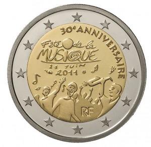 Pièce EUro de qualité BU : Brillant Universel